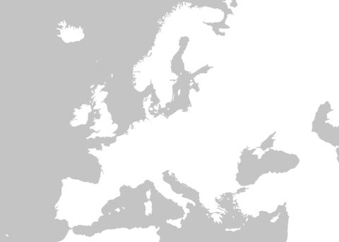 mapa europa para rellenar