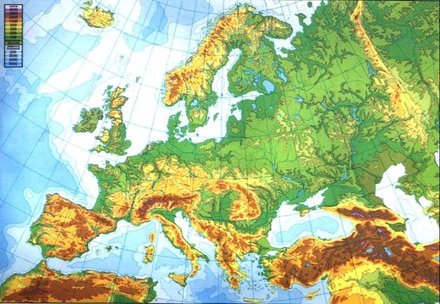 mapa europa fisico mudo a color para imprimir