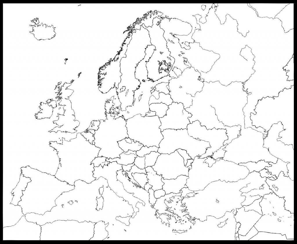 Mapa De Europa Para Colorear Imagenes Para Imprimir Y Dibujar