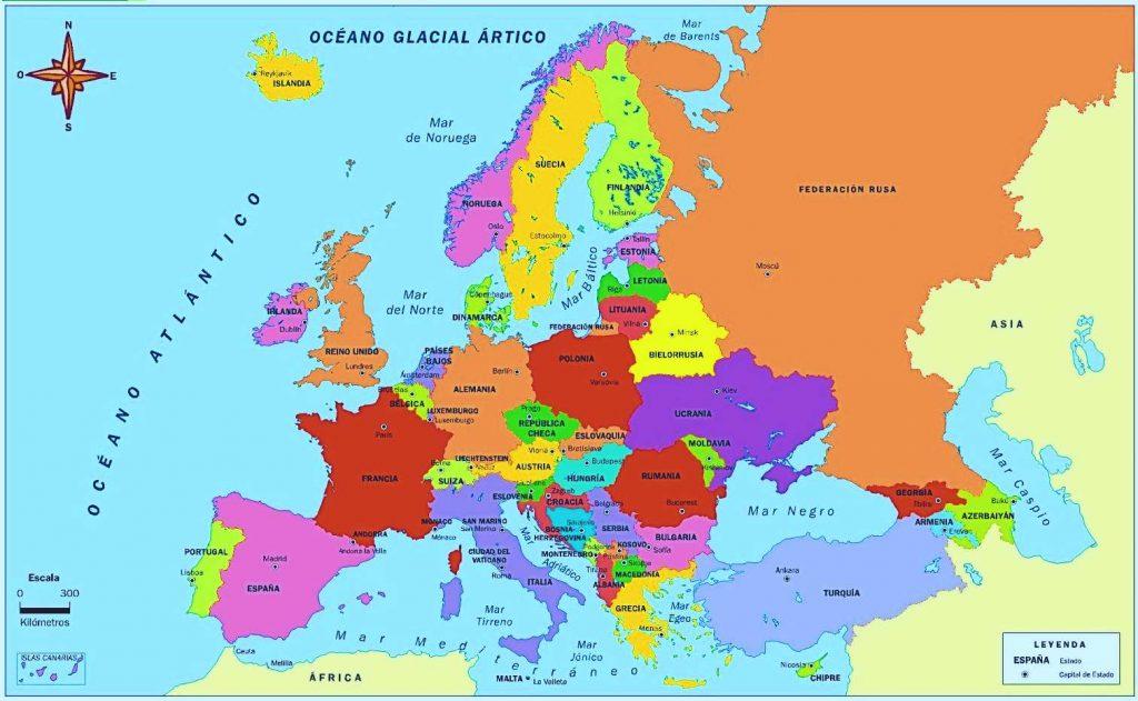mapa europa nombres español